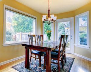 maximizing smaller dining room